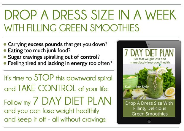 Drop a dress size in a week (and keep the weight off!) with the green smoothie 7 day diet plan. The healthy and permanent way to lose weight that your body loves!